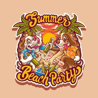 Ilustración de fiesta de playa de verano