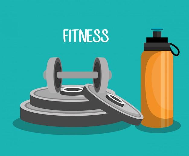 Ilustración de fitness deportivo