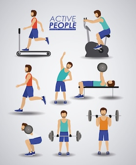 Ilustración de fitness