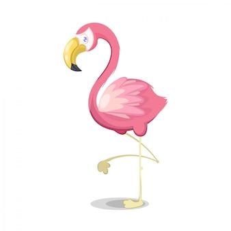 Ilustración de flamenco rosado