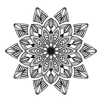 Ilustración de flor de mandala