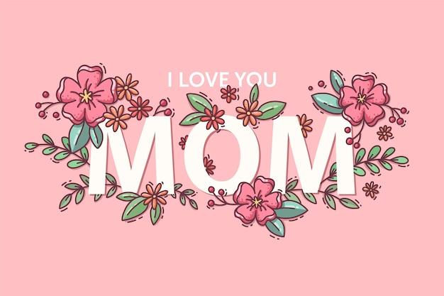 Ilustración floral del día de la madre