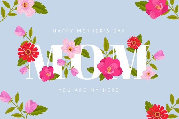 Ilustración floral del día de la madre vector gratuito