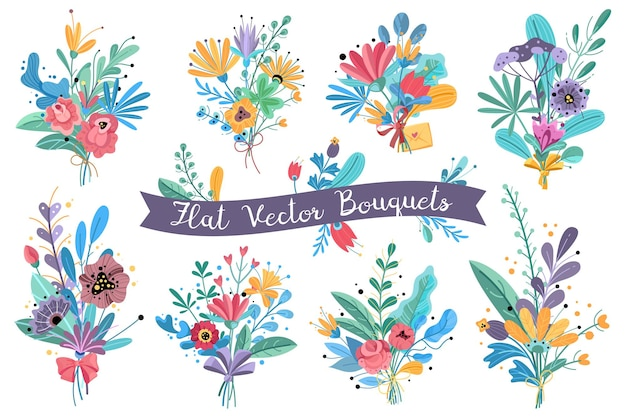 Ilustración de flores florecientes de jardín