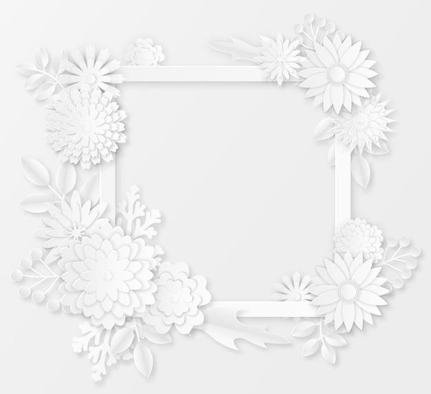 Ilustración de flores de papel