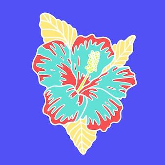Ilustración de flores tropicales
