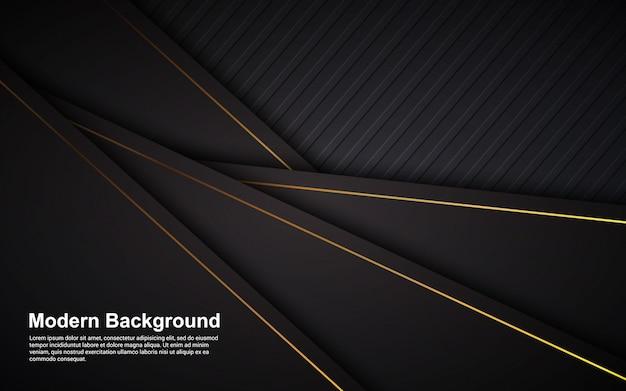Ilustración de fondo abstracto color negro lujo moderno