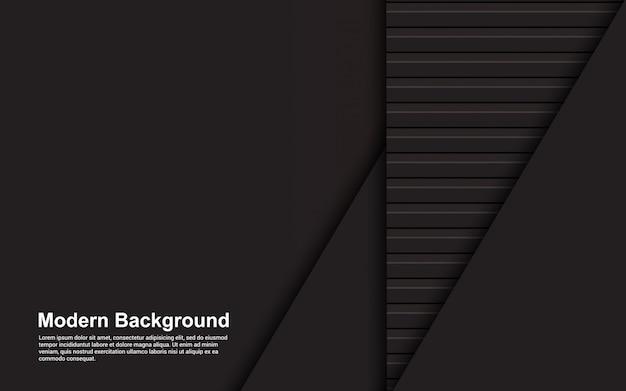 Ilustración de fondo abstracto de color negro y marrón