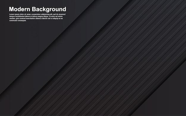 Ilustración de fondo abstracto diagonal color negro moderno