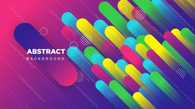 Ilustración de fondo abstracto de light beam zoom con colorido como ondas de plumas.