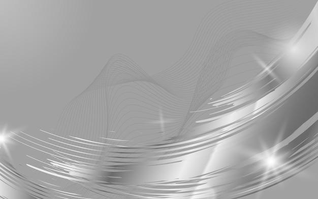 Ilustración de fondo abstracto de onda de plata