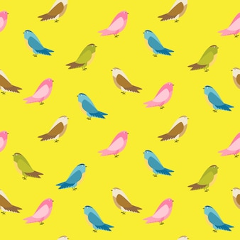 Ilustración de fondo abstracto pájaro de patrones sin fisuras