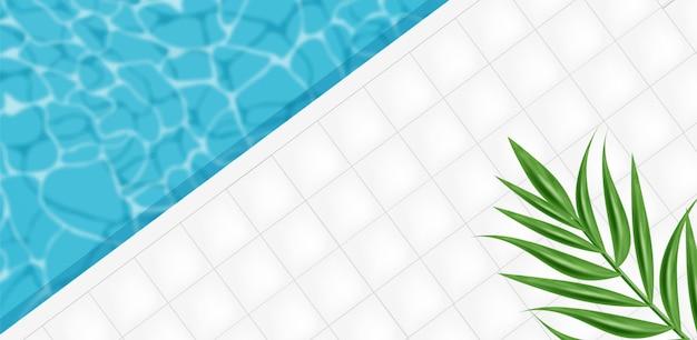 Ilustración de fondo abstracto de piscina
