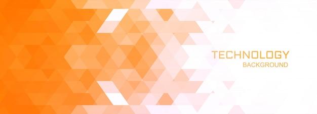 Ilustración de fondo de banner de tecnología geométrica