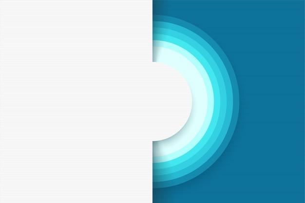 Ilustración de fondo blanco abstracto de diseño moderno con círculos y elementos de color azul