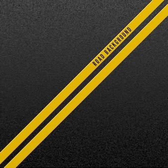 Ilustración de fondo de carretera abstracta