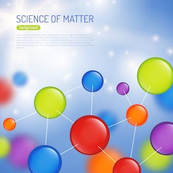 Ilustración de fondo de ciencia