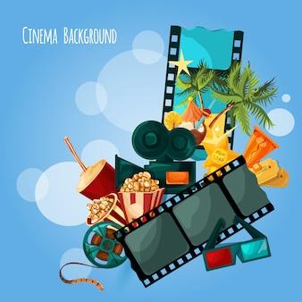 Ilustración de fondo de cine