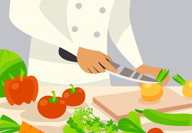 Ilustración de fondo de cocinero