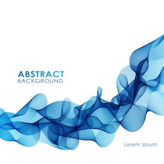 Ilustración fondo colorido abstracto con onda de humo azul