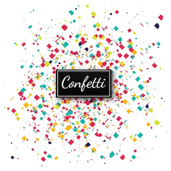 Ilustración de fondo colorido confeti