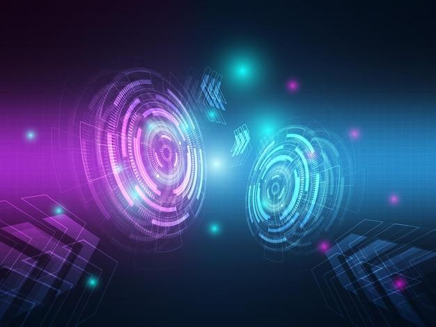 Ilustración de fondo de comunicación de transferencia de datos de alta tecnología abstracta