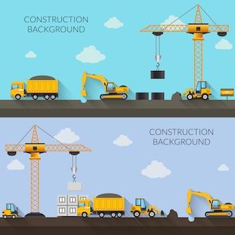Ilustración de fondo de construcción