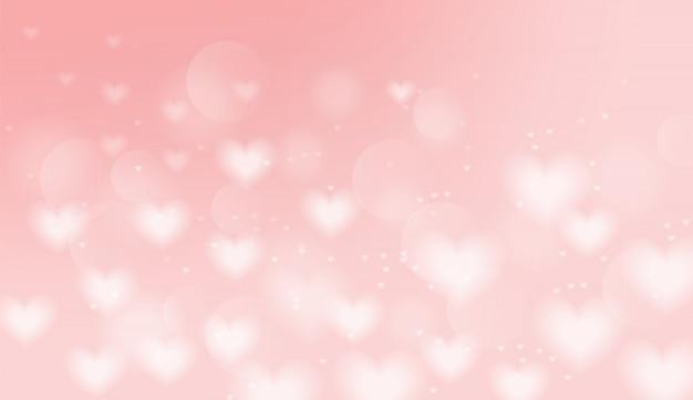 Ilustración de fondo de corazones de color rosa