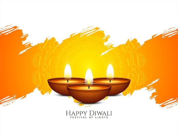 Ilustración de fondo cultural feliz festival indio de diwali