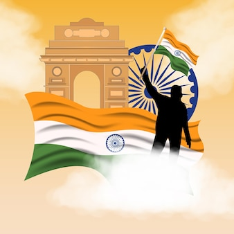 Ilustración de fondo del día de la república india