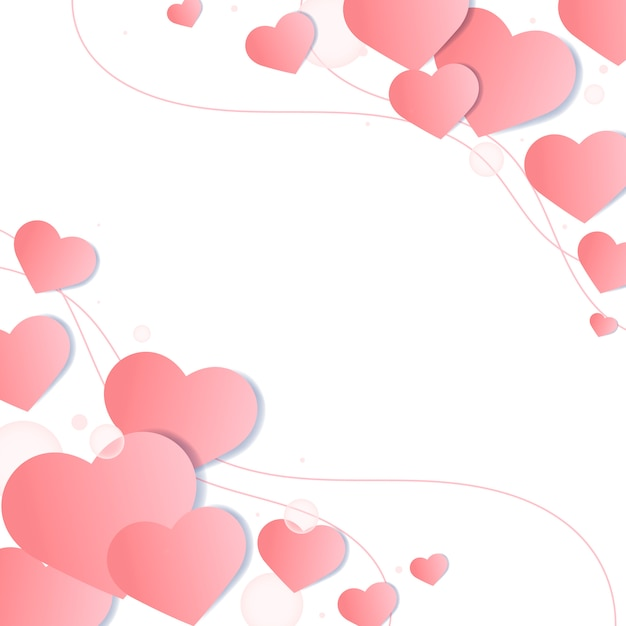 Ilustración de fondo del día de san valentín