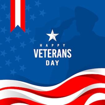 Ilustración de fondo del día de los veteranos