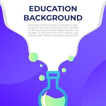 Ilustración de fondo de educación
