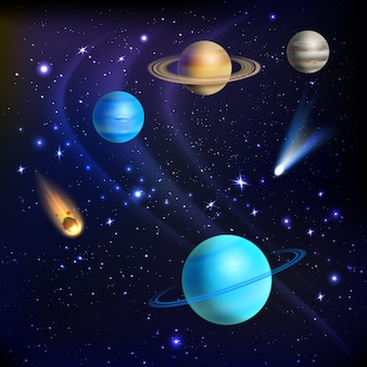 Ilustración de fondo del espacio