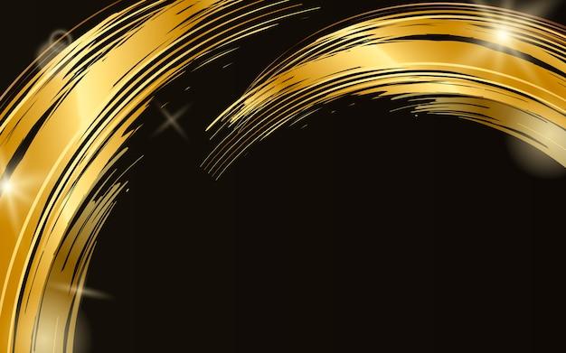 Ilustración del fondo del extracto de la onda del oro