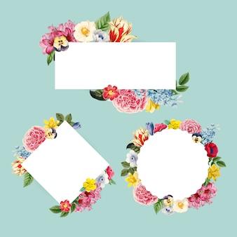 Ilustración de fondo floral