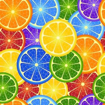 Ilustración del fondo inconsútil de la naranja del arco iris