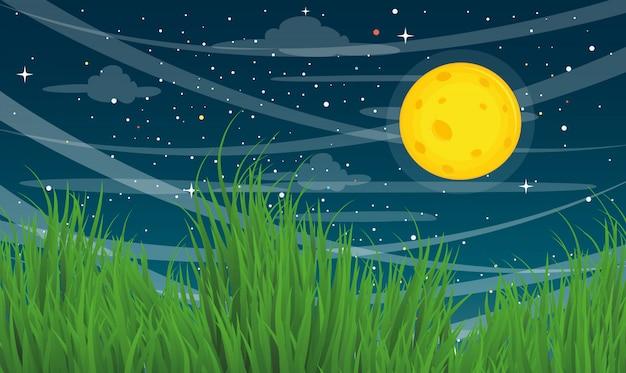 Ilustración de fondo de la luna