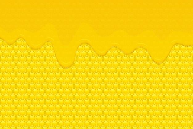 Ilustración de fondo de miel