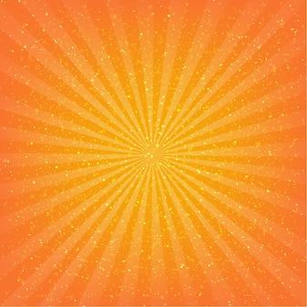 Ilustración de fondo naranja sunburst
