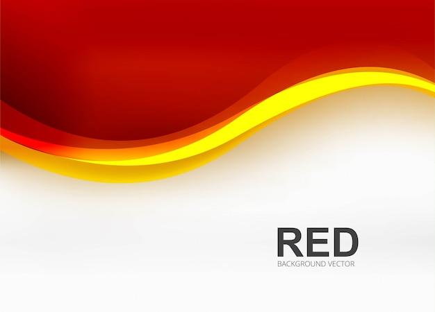 Ilustración de fondo de onda de negocios rojo moderno