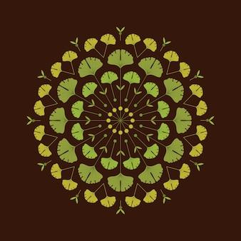 Ilustración de fondo de otoño en estilo plano