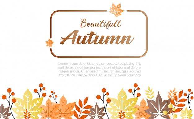 Ilustración de fondo de otoño. se puede usar como banner y para redes sociales