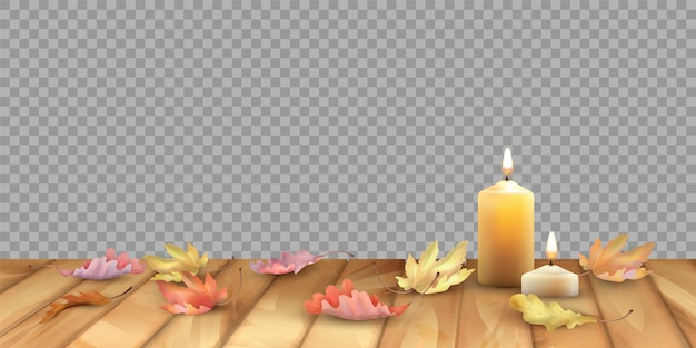Ilustración de fondo de otoño