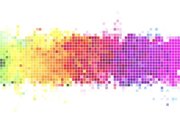 Ilustración de fondo de píxeles de colores