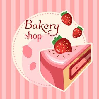 Ilustración de fondo tienda de dulces