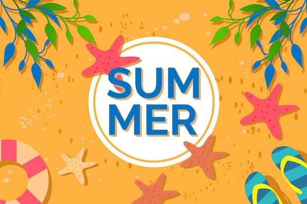 Ilustración de fondo de verano