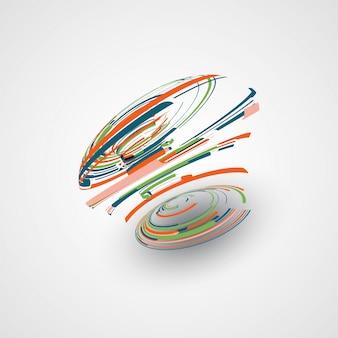Ilustración de forma abstracta futurista