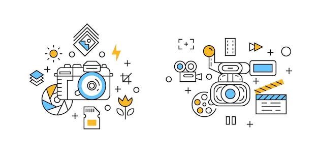 Ilustración de fotografía y videografía.