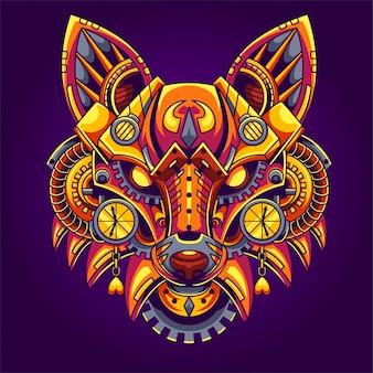 Ilustración de fox steampunk